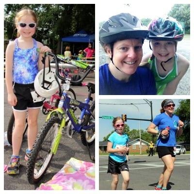 Mother-daughter bonding through triathlons!