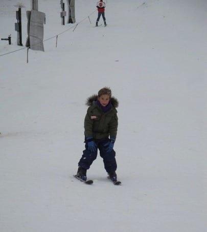 Skiing like a boss!