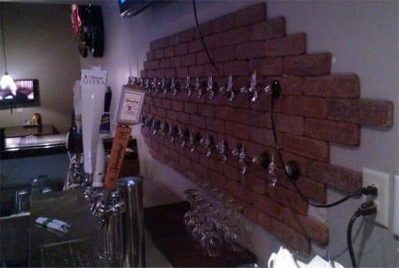The Tap Wall is pretty impressive.