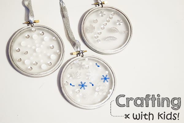 Crafting with Kids: Sequined Snowglobe Ornaments