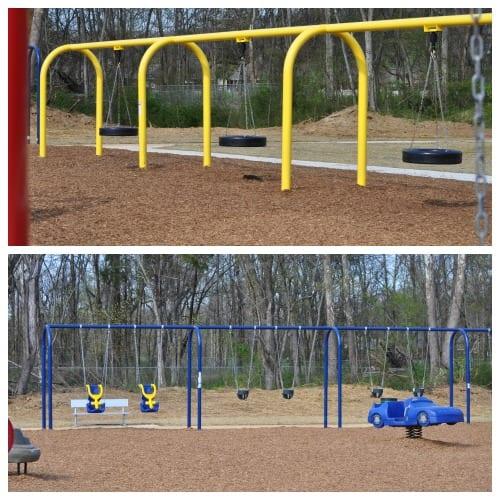 Southside Park swings