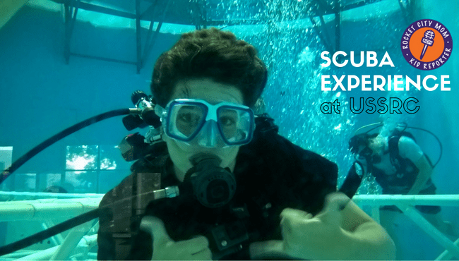 Kid Report: Scuba Experience at the U.S. Space & Rocket Center