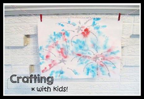 Tie Dye Fireworks Art