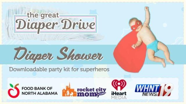 Great Diaper Drive shower invitation