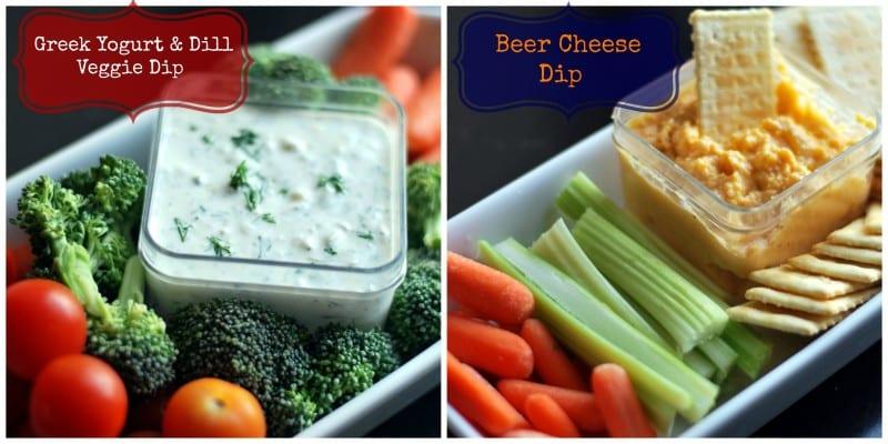 Greek Yogurt Dill Dip and Beer Cheese Dip
