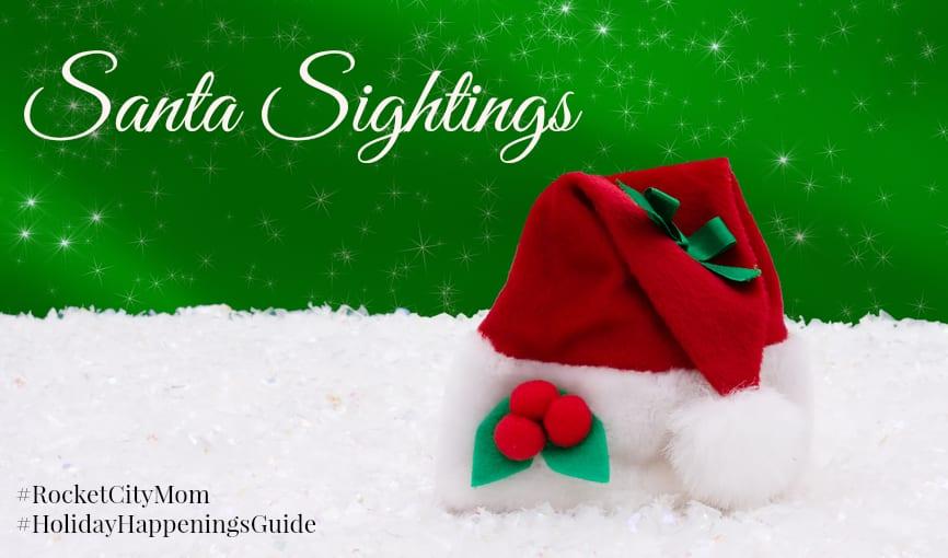 2016 Santa Sightings in Huntsville and North Alabama