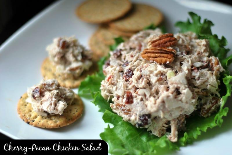 Cherry Pecan Chicken Salad Facebook edit with label