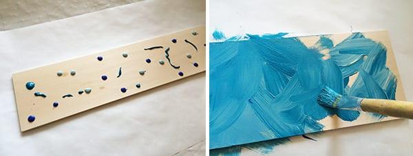 Step1 clothespin art display