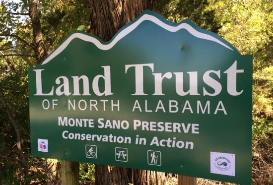 Land Trust sign