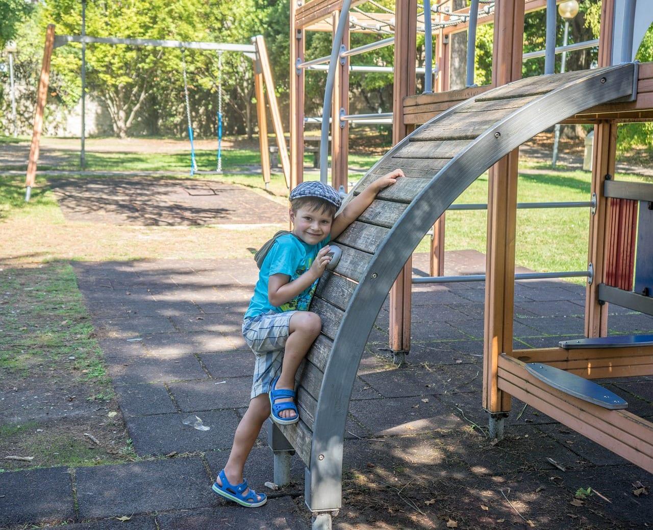 boy playground outside