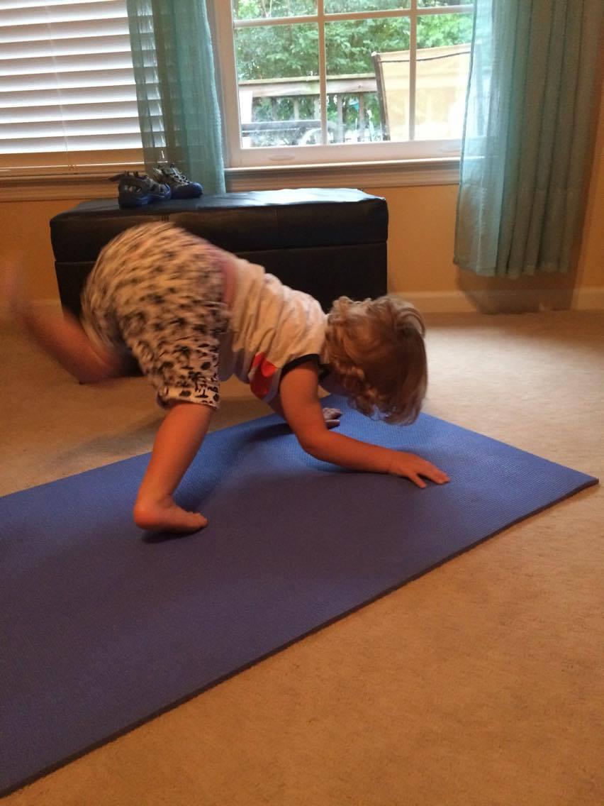 Yoga mom 2 kid