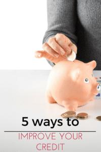 5 ways to improve credit score progress bank pinterest