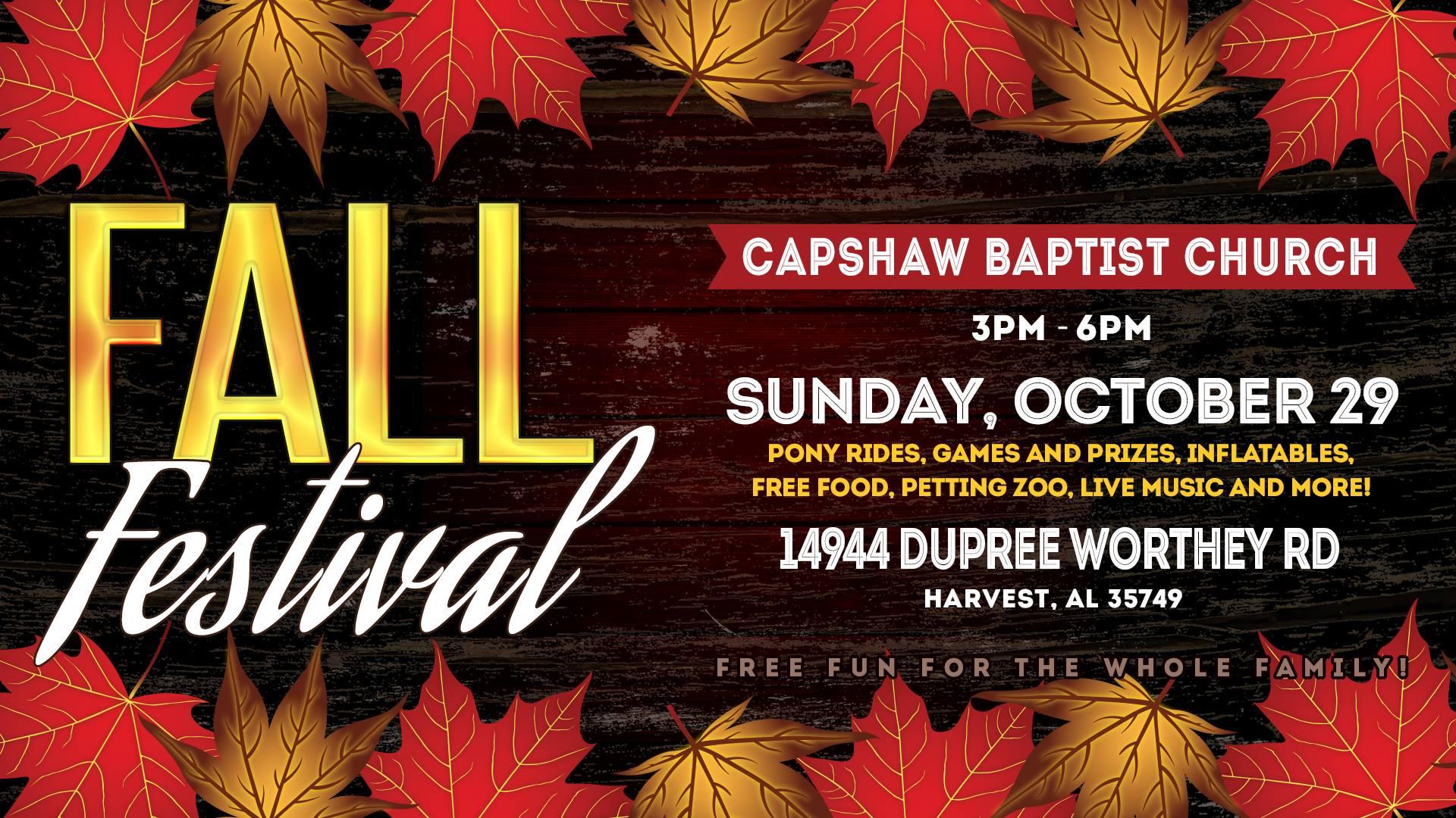 Capshaw Baptist Church Fall Festival