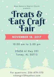 Mays Memorial Baptist ChurchTreats & Eats Craft Fair