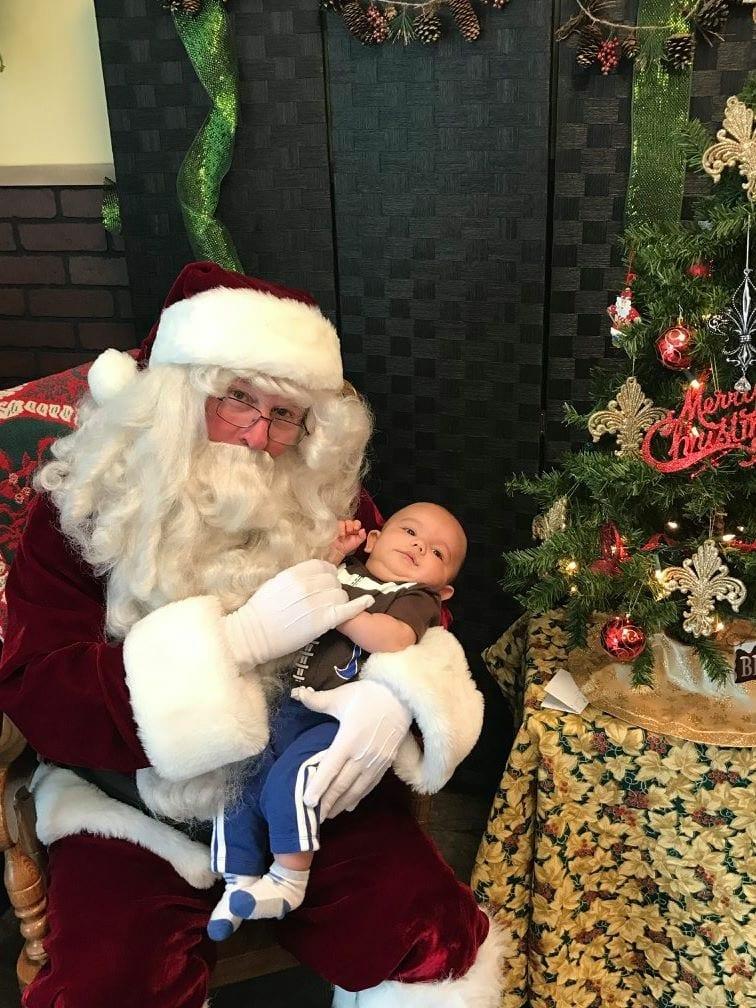 Santa at Beignet Cafe