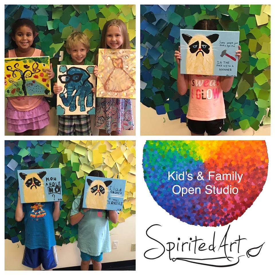 Spirited Art Calendar Huntsville Al : Kids and family open studio at spirited art rocket city mom
