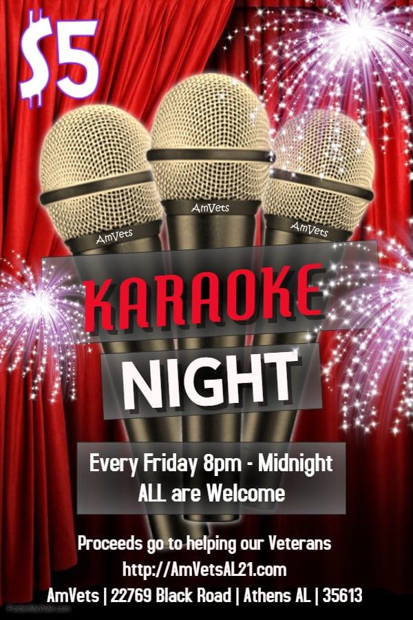 AmVets' Family Night with Karaoke