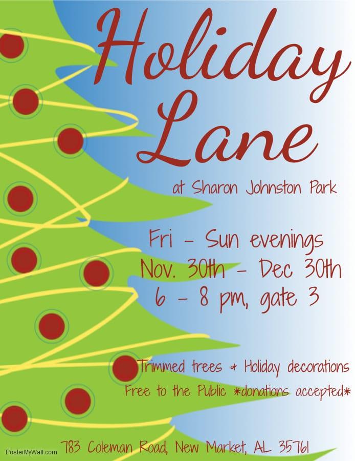 Holiday Lane at Sharon Johnston Park