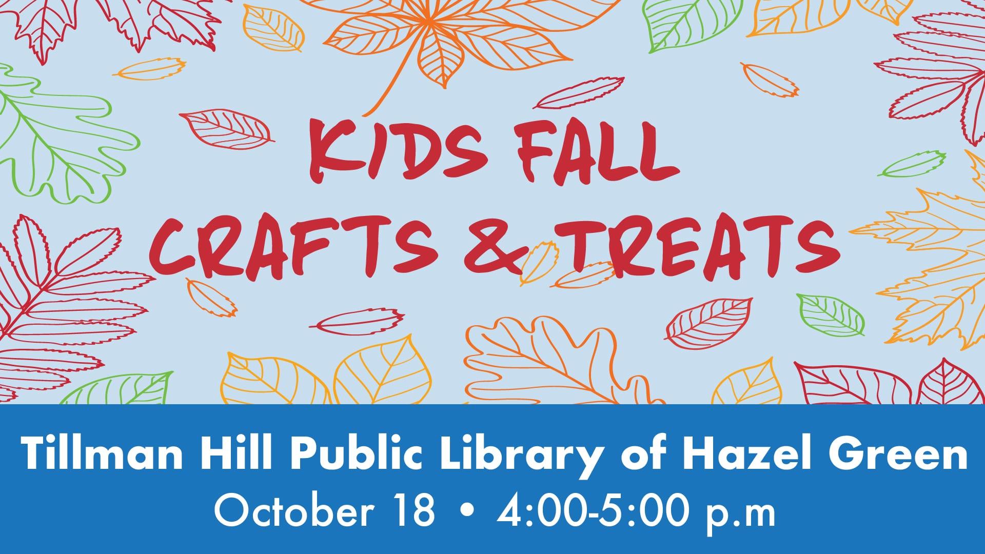 Kids Fall Crafts & Treats