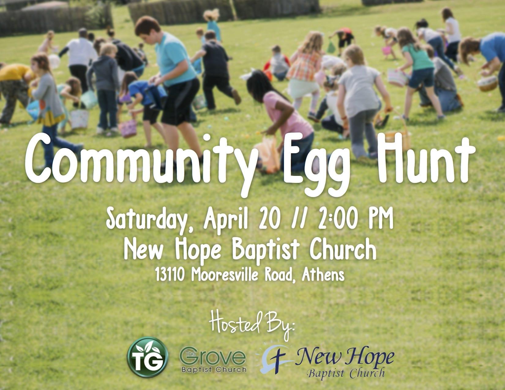 Community Egg Hunt at New Hope Baptist