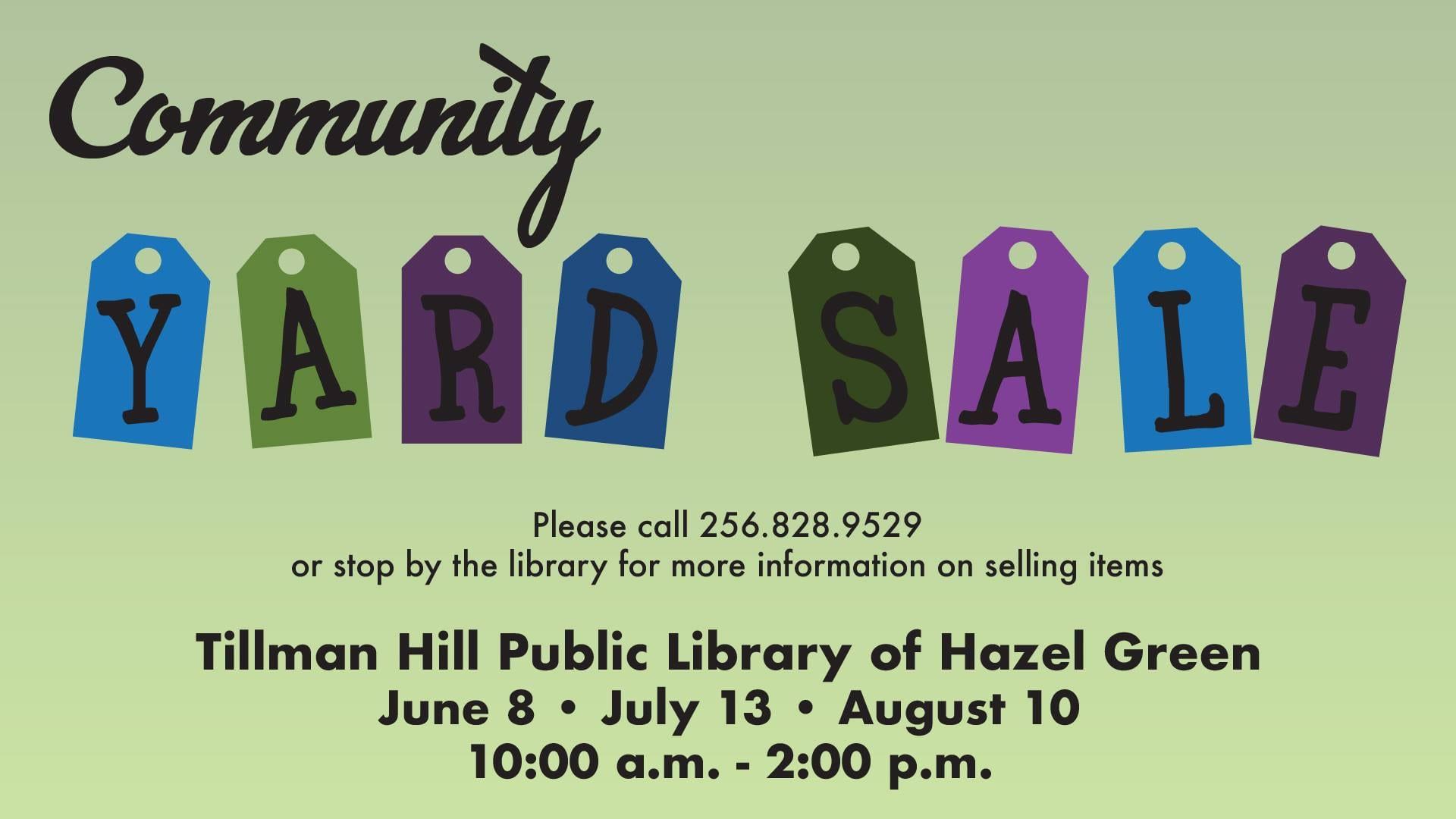 Community Yard Sale at Tillman Hill Public Library | Rocket