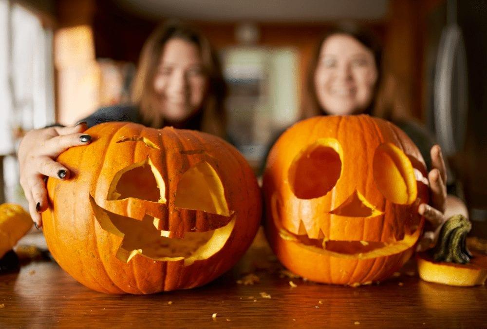 teens halloween pumpkins