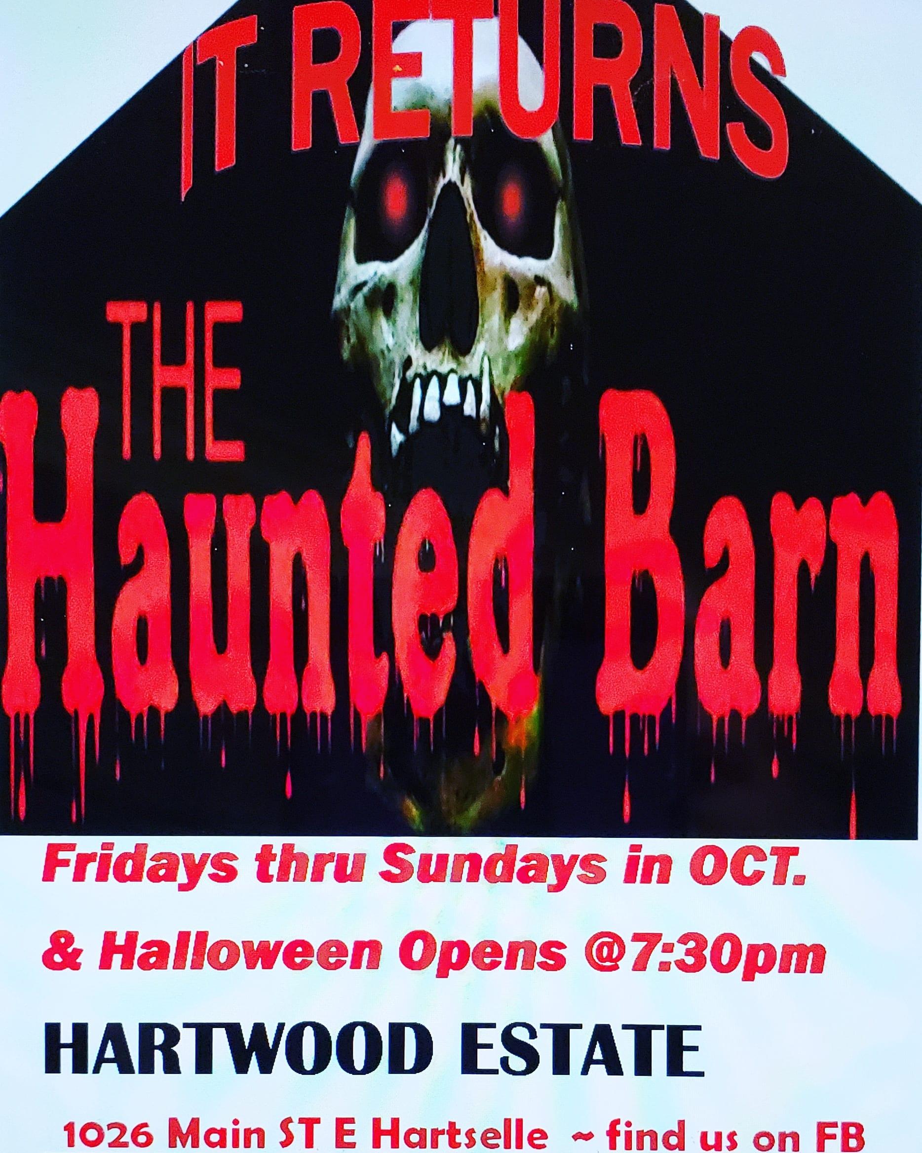 Haunts at Hartwood Estate's No Scare Haunted Barn