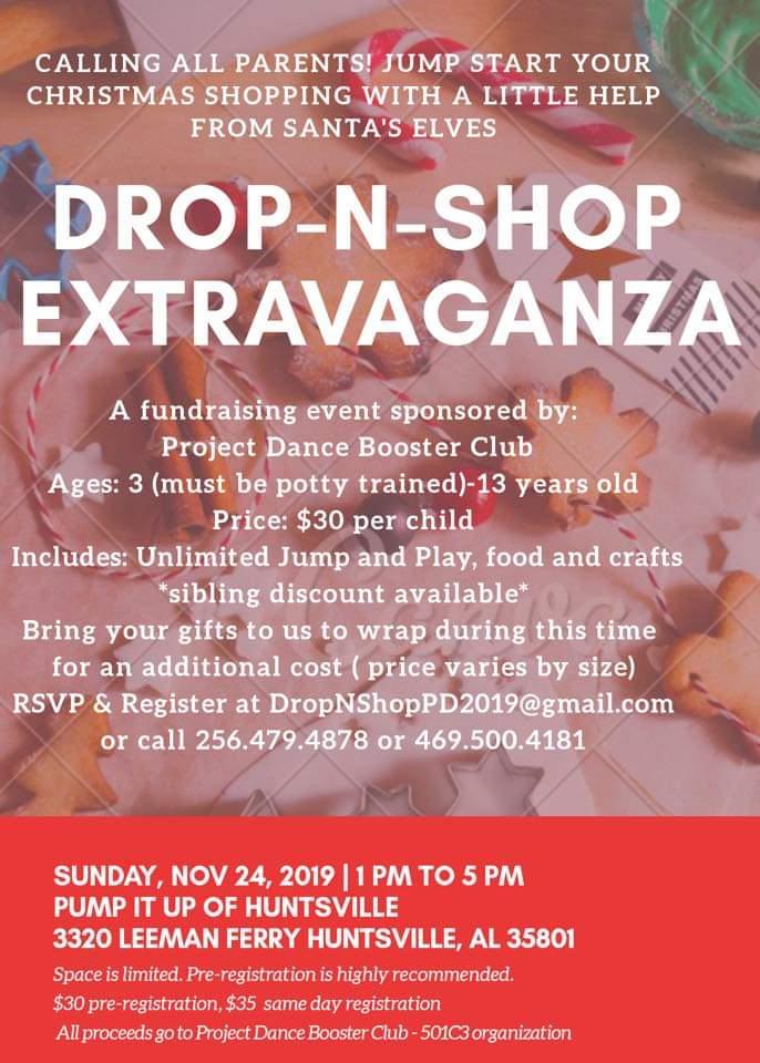 Drop N Shop Extravaganza Parent's Day Out