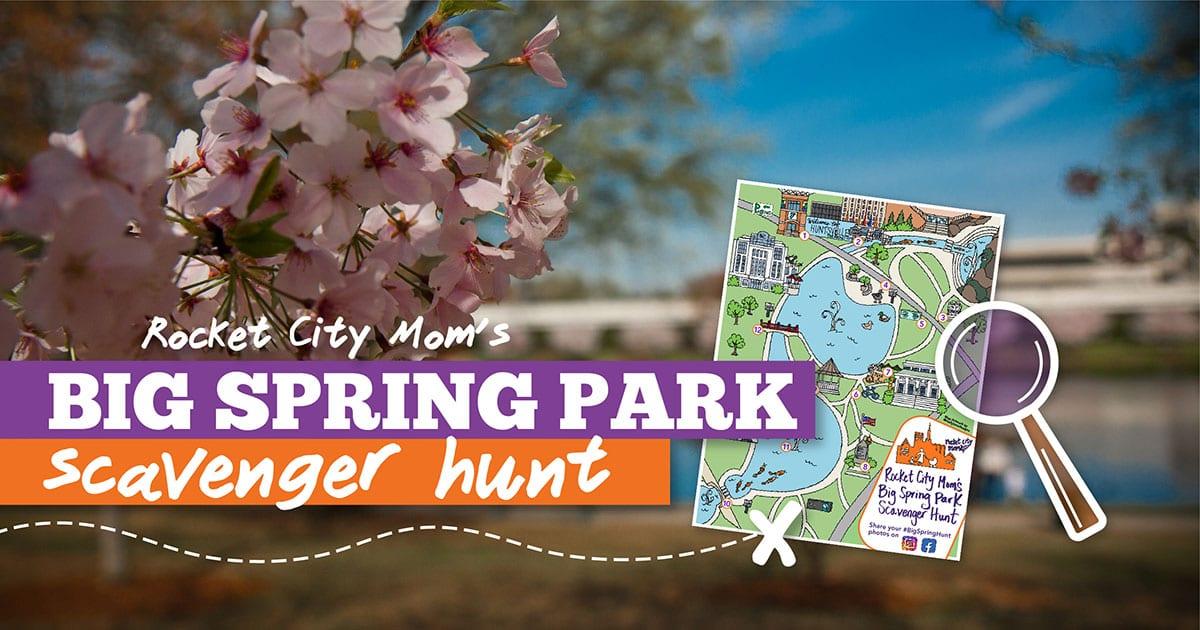 Rocket City Mom Big Spring park Scavenger Hunt wide